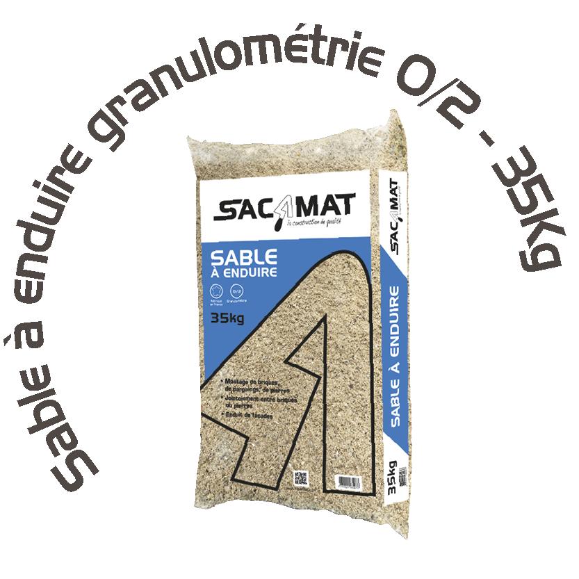 SABLE À ENDUIRE GRANULOMÉTRIE 0/2 – 35 KG